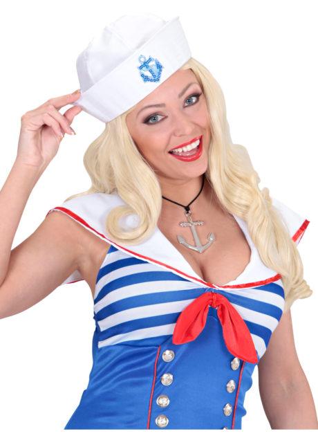 bijou ancre marine, collier ancre marine, collier déguisement de marin, collier déguisement, accessoire déguisement de marin, accessoire déguisement capitaine marine, Ancre Marine sur Cordon