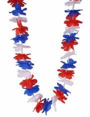 collier france, collier bleu blanc rouge, accessoires coupe du monde 2018, accessoires de supporter, boutique supporter, mondial 2018 Collier de Fleurs Bleu Blanc Rouge, Supporter France