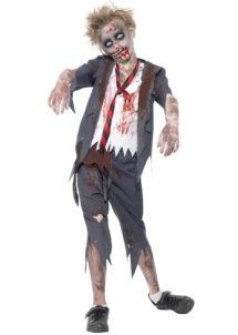 déguisement halloween enfant, déguisement enfant halloween, déguisement zombie enfant, costume halloween enfant, déguisement enfant diable, déguisement garçon halloween, déguisement halloween garçon, déguisement zombie enfant, déguisement écolier zombie garçon, Déguisement d'Ecolier Zombie, Garçon