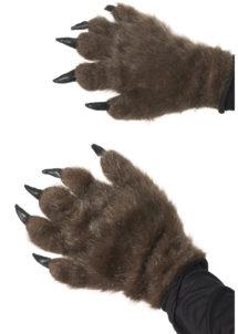 mains de loup, mains d'ours, mains de monstre, gants de monstre déguisement, gants de loup déguisement, accessoire gants déguisement, Gants en Fausse Fourrure et Griffes