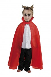 cape rouge enfant, cape halloween pour enfant, cape halloween diable, cape diable enfant, cape pas cher enfant, cape déguisement halloween Cape Rouge en Taffetas, Enfant