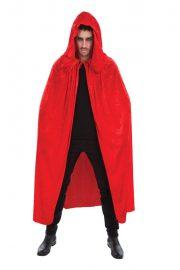 accessoire cape déguisement, déguisement cape halloween, cape rouge déguisement, cape déguisement homme, cape déguisement adulte, cape halloween, cape de diable, accessoire diable déguisement, cape à capuche déguisement Cape Rouge à Large Capuche, Velours