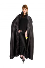 cape noire halloween, cape halloween adulte, cape satin noir déguisement, cape déguisement halloween, cape adulte halloween, cape noire adulte halloween Cape Noire, Satin