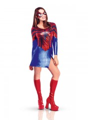 déguisement spidergirl, déguisement super héros adulte, déguisement super héros femme, costume super héros adulte, costume super héros femme Déguisement Spider Girl
