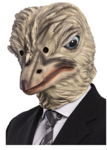 masque d'autruche, masque oiseau, masque animal latex, masques d'animaux, masque d'autruche adulte, Masque d'Autruche, Latex