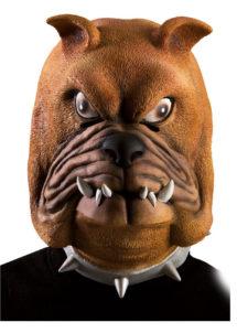 masque de chien, masque de bouledogue, masque de déguisement, masque animaux, masque animal latex, Masque de Bouledogue, Latex