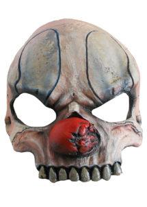 masque halloween, masque clown halloween, accessoire masque clown horreur, masque latex déguisement, masque clown diabolique, masque clown halloween, masque clown maléfique, Demi Masque de Clown Zombie, Latex