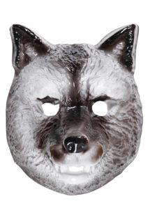 masque de loup en plastique, masque de loup, masques animaux enfants, Masque de Loup Gris, en PVC