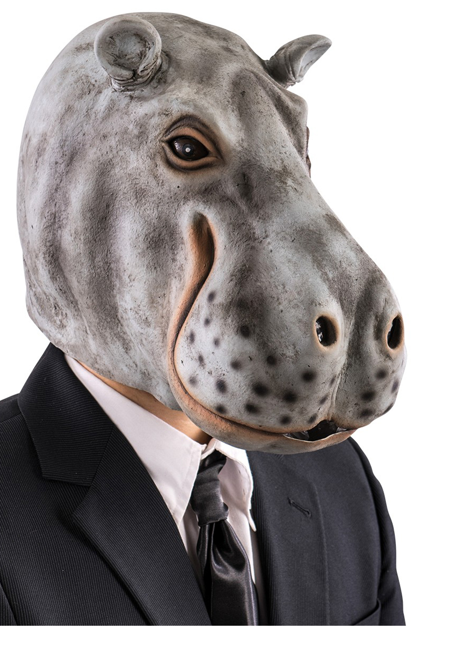 Masque Dhippopotame Latex Aux Feux De La Fête Paris