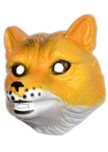 masque renard enfant, masque de renard, masque renard en plastique, masques d'animaux, masque animal, Masque de Renard