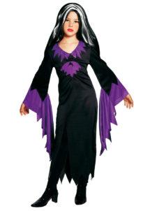 déguisement mortissia enfant, déguisement halloween fille, déguisement sorcière fille, déguisement halloween enfant, déguisement morticia fille, Déguisement de Morticia, Fille