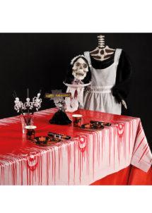 nappe ensanglantée halloween, décorations halloween, déco halloween, décoration table halloween, nappe pour halloween, déco table halloween, accessoire décoration halloween, décorations halloween, Vaisselle Halloween, Nappe Ensanglantée, PVC