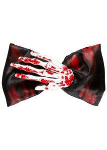 noeud papillon squelette halloween, accessoire halloween, noeud papillon déguisement, noeud papillon original, accessoires gore halloween, Noeud Papillon Main de Squelette