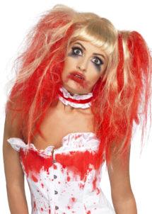 perruque femme, perruque pas cher paris, perruque halloween, perruque sanglante, perruque blonde ensanglantée, perruque halloween femme, Perruque Blonde Ensanglantée