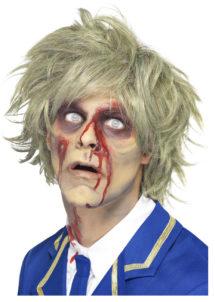 perruque blonde, perruque de zombie, perruque halloween, perruque de zombie pour homme, perruques hommes, Perruque de Zombie, Blonde