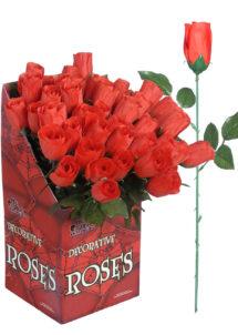 rose rouge, rose de décoration, rose rouge en tissu, rose en tissu, fleurs en tissu, Rose en Rouge en Tissu