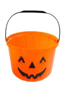 seau citrouille halloween, pot à bonbons citrouille, seau citrouille d'halloween, citrouille en plastique, Citrouille, Seau à Bonbons, GM