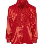 chemise disco homme, déguisement disco homme, costume disco homme, chemise années 80 homme, déguisement années 80 homme, chemise à jabot déguisement, chemise disco rouge Déguisement Disco, Chemise Jabot Rouge