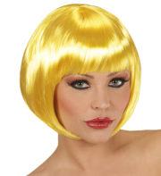 perruque jaune, perruque carré jaune, perruque femme Perruque Chanel, Jaune