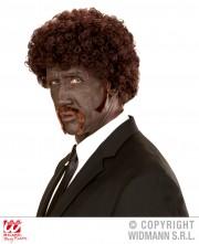 perruque pour homme, perruque pas chère, perruque de déguisement, perruque homme, perruque châtain, perruque afro, perruque pull fiction, perruque années 90 Perruque Afro Pulp Fiction, Châtain