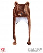 chapeau d'ours brun, chapeaux d'animaux, chapeaux humoristiques, accessoires déguisement d'ours, oreilles d'ours Chapeau d'Ours Brun