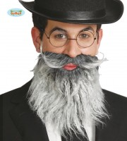 fausse barbe, fausses moustaches, postiche, barbe postiche, fausse barbe réaliste, fausse barbe de déguisement Barbe Grise