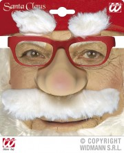 lunettes de déguisement, lunettes de fêtes, lunettes soirée déguisée, accessoires lunettes,lunettes fantaisie, lunettes pas chères, lunettes de père noel avec moustache Lunettes de Père Noël avec Nez et Moustache