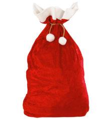 hotte de père noel, accessoire père noel déguisement, accessoire déguisement père noël, Hotte du Père Noël, Velours