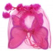 ailes de déguisement, ailes pour se déguiser, ailes de fées, ailes de fée, ailes roses, ailes de fée rose Ailes de Fée avec Halo