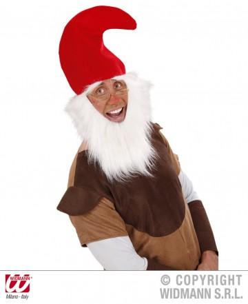 Bonnet de lutin avec barbe, chapeau de nain, chapeaux avec barbe, accessoires déguisement de nain Chapeau de Lutin avec Barbe