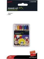 crayons à maquillage, crayon gras à maquillage, crayon gras maquillage, crayon à maquillage déguisement, maquillage déguisement, crayon maquillage halloween, crayon maquillage fête, crayon maquillage gras, palette crayons maquillage Crayons Gras à Maquillage, x 6