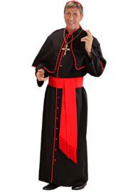 déguisement de cardinal, costume cardinal homme, déguisement cardinal homme, déguisement religieux homme, costume de religieux homme Déguisement Cardinal, Noir et Rouge