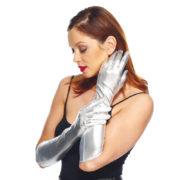 gants argent, gants longs argent, gants femme argent, longs gants femme argent, gants argentés, gants déguisement, accessoire gants déguisement Gants Métal Elastiques, Argent
