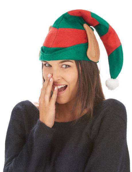 bonnet d'elfe, bonnet de lutin, chapeau de lutin, chapeau d'elfe, bonnet avec oreilles, Bonnet d'Elfe ou de Lutin, avec Oreilles