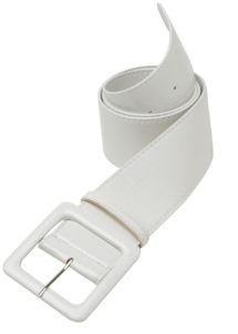 ceinture vinyle blanche, ceinture paillette, ceinture déguisement, accessoire déguisement, ceinture disco, accessoire disco, ceinture soirée disco, ceinture années 60, accessoires années 60, ceinture blanche, Ceinture Brillante, Blanche