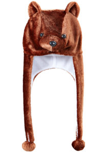 chapeau d'ours brun, chapeaux d'animaux, chapeaux humoristiques, accessoires déguisement d'ours, oreilles d'ours, Chapeau d'Ours Brun