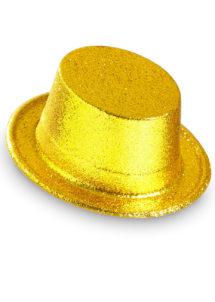 chapeaux paillettes, chapeaux hauts de forme paillettes, chapeaux hauts de forme, chapeau haut de forme, chapeaux paris, chapeaux hauts de forme, Chapeau Haut de Forme à Paillettes, Or