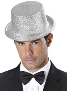 chapeaux paillettes, chapeaux hauts de forme paillettes, chapeaux hauts de forme, chapeau haut de forme, chapeaux paris, chapeaux hauts de forme, Chapeau Haut de Forme à Paillettes, Argent