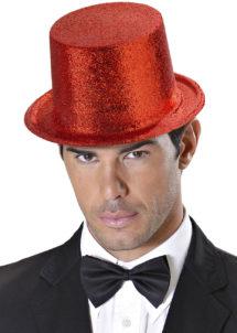 chapeaux paillettes, chapeaux hauts de forme paillettes, chapeaux hauts de forme, chapeau haut de forme, chapeaux paris, chapeaux hauts de forme, Chapeau Haut de Forme à Paillettes, Rouge