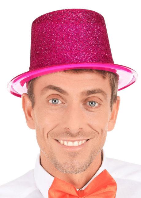 chapeaux paillettes, chapeaux hauts de forme paillettes, chapeaux hauts de forme, chapeau haut de forme, chapeaux paris, chapeaux hauts de forme, Chapeau Haut de Forme à Paillettes, Rose Fuchsia