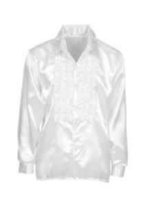 chemise disco, chemise à jabot, chemise années 70, chemise déguisement disco, chemise à jabot blanche, Chemise Disco à Jabot, Blanche