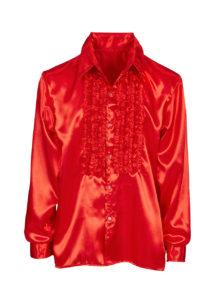 chemise disco, chemise à jabot, chemise années 70, chemise déguisement disco, chemise à jabot rouge, Chemise Disco à Jabot, Rouge