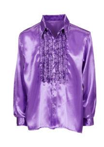 chemise disco, chemise à jabot, chemise années 70, chemise déguisement disco, chemise à jabot violette, Chemise Disco à Jabot, Violette