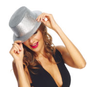 chapeaux paillettes, chapeaux hauts de forme paillettes, chapeaux hauts de forme, chapeau haut de forme, chapeaux paris, chapeaux hauts de forme Chapeau Haut de Forme à Paillettes, Argent
