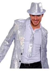 cravate sequins argent, cravate à paillettes, cravate déguisement, accessoire déguisement, accessoire disco, cravate disco, cravate paillettes argent, Cravate Fine Paillettes Sequins, Argent