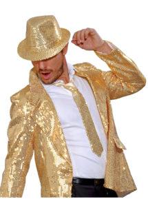 cravate sequins dorés, cravate à paillettes, cravate déguisement, accessoire déguisement, accessoire disco, cravate disco, cravate paillettes dorées, cravate or, Cravate Fine Paillettes Sequins, Dorée