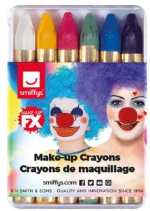 crayons à maquillage, crayon gras à maquillage, crayon gras maquillage, crayon à maquillage déguisement, maquillage déguisement, crayon maquillage halloween, crayon maquillage fête, crayon maquillage gras, palette crayons maquillage, Crayons Gras à Maquillage, x 6