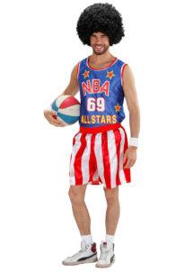 déguisement de basketteur américain, déguisement sportif adulte, costume de basket américain, costume NBA homme, déguisement NBA homme, Déguisement Basketteur Américain