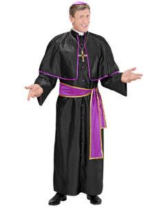 déguisement de cardinal, costume cardinal homme, déguisement cardinal homme, déguisement religieux homme, costume de religieux homme, Déguisement de Cardinal, Violet