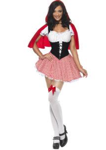 déguisement de chaperon rouge, costume chaperon rouge adulte, déguisement chaperon rouge femme, costume chaperon rouge femme, déguisement héros d'enfance, Déguisement Chaperon Rouge Sexy
